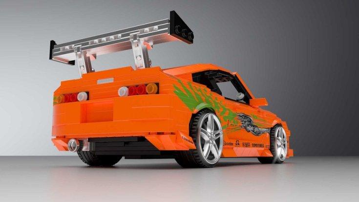 LEGO Toyota Supra hátulja