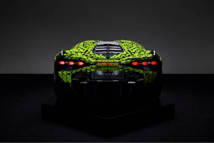 Életnagyságú LEGO Lamborghini Sián