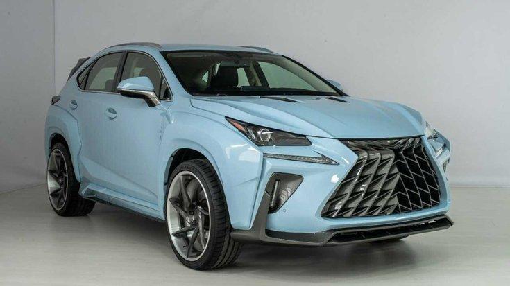 A Lexus NX, az átalakított elemekkel