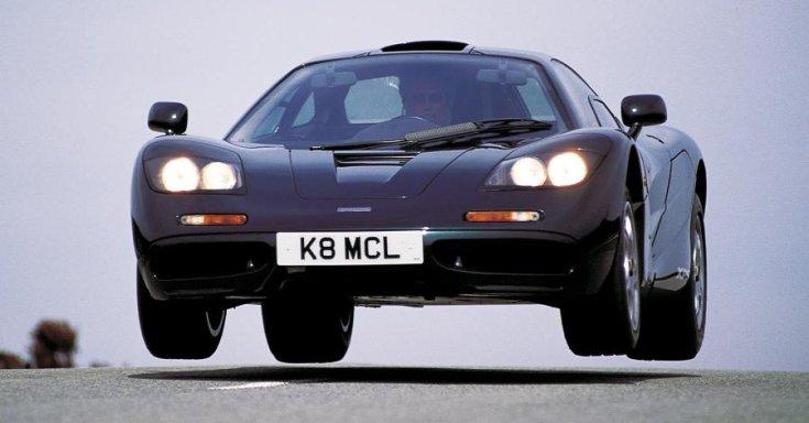 McLaren F1 a levegőben