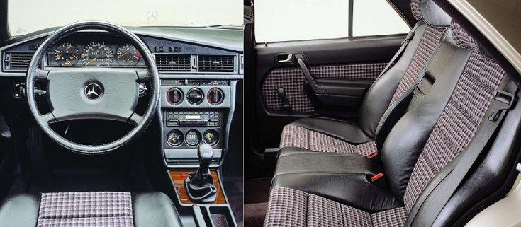 Mercedes 190E 2.3-16 belső