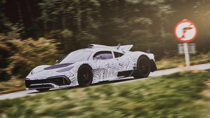 Mercedes-AMG Project One álcázva, tesztelés közben