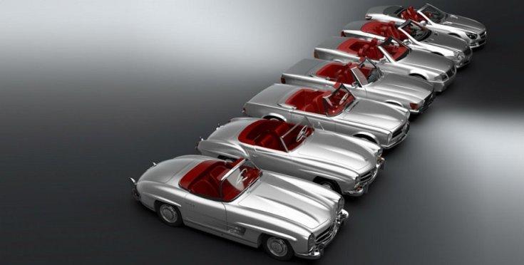 Mercedes SL generációk