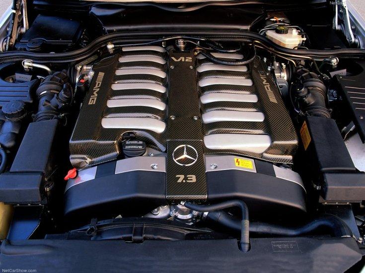 Mercedes SL73 AMG motor