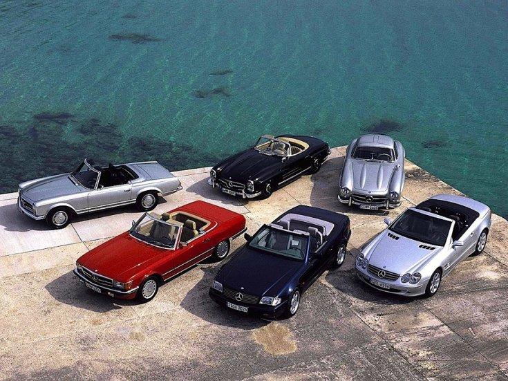 Mercedes SL modellek