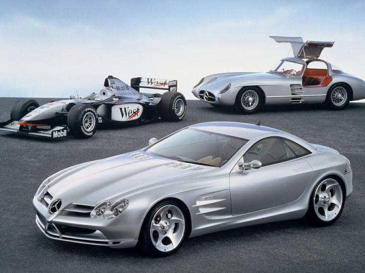 McLaren-Mercedes F1 autó, Mercedes-Benz 300 SLR, Mercedes-Benz SLR Vision Concept