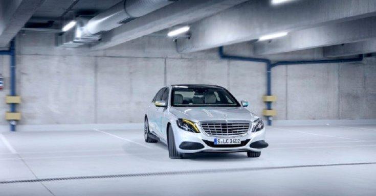 Mercedes-Benz S-osztály, tanulmányautó, 2019, ezüst, elölnézet
