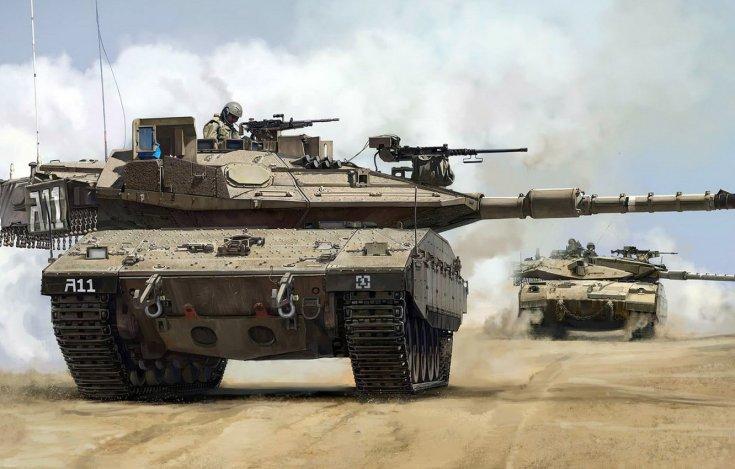Merkava MK 4 harckocsi, terepgyakorlaton