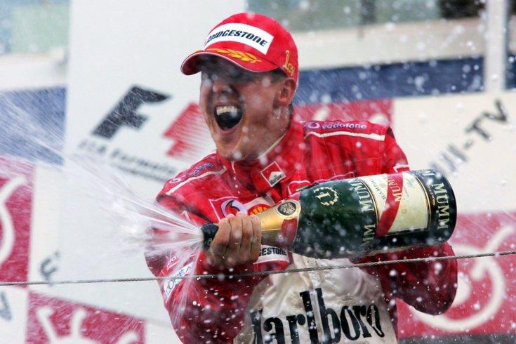 Michael Schumacher egyik győzelme még 2004-ben