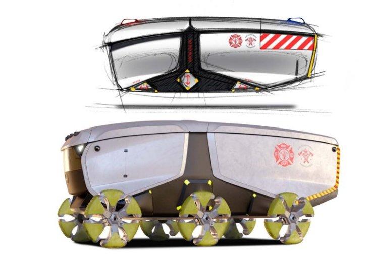 Elek Bálint humanitárius jármű koncepciója