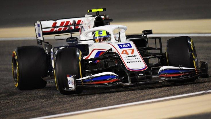 Mick Schumacher a Haas-ban menet közben