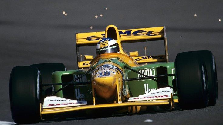 Michael Schumacher 1992-ben a Belga Nagydíjon