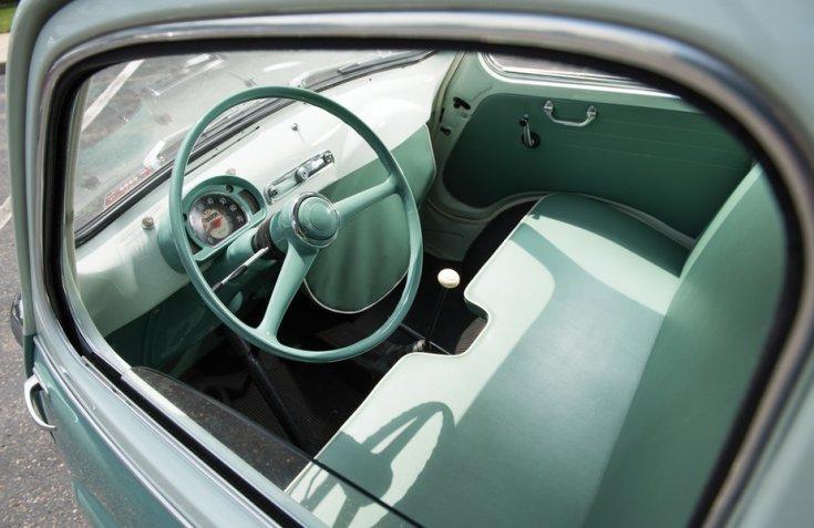 Fiat 600 Multipla, beltér, műszerfal