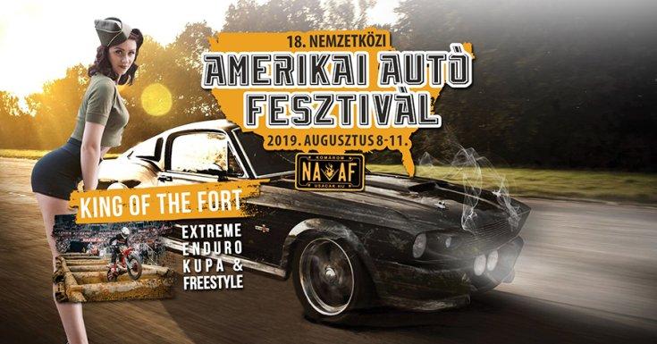 A Nemzetközi Amerikai Autó Fesztivál plakátja