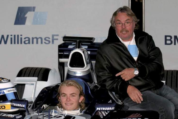 Nico és Keke Rosberg egy versenyen egymás mellett