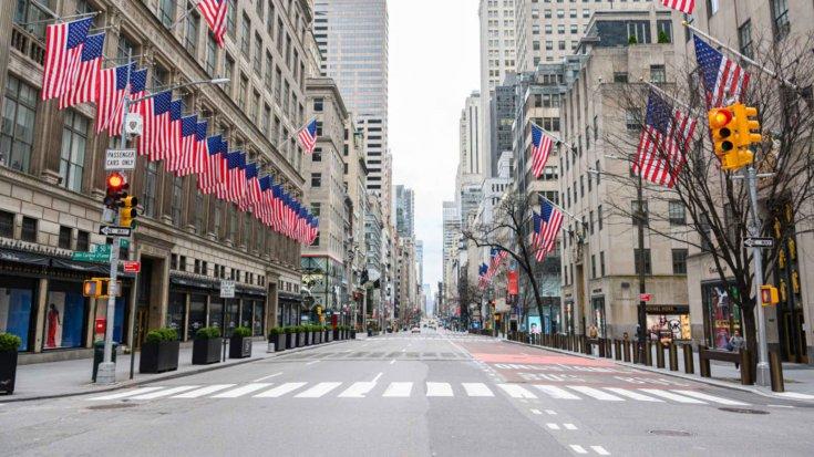 kihalt New York-i utca látképe