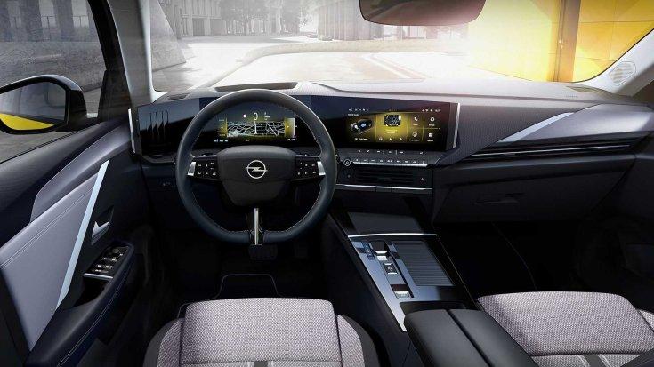 2021-es Opel Astra beltér