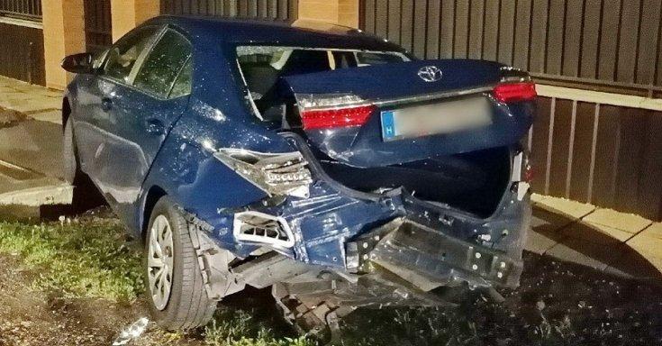 Összetört Toyota