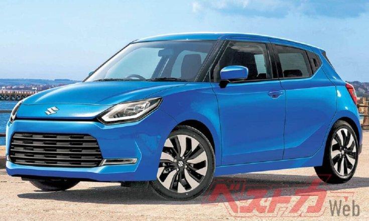 Ötödik generációs Suzuki Swift egy koncepciórajzon