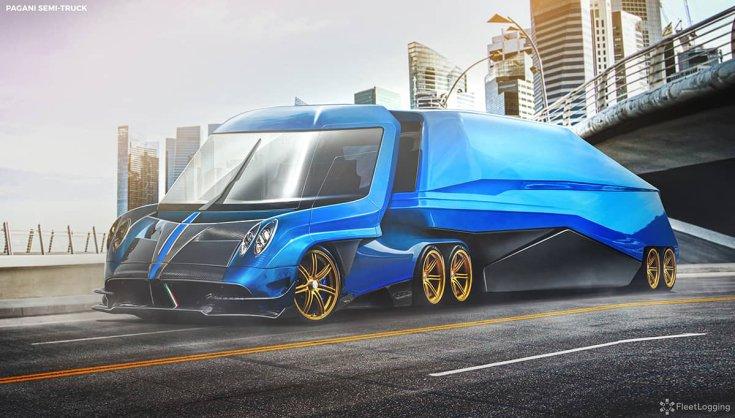 Pagani Zonda koncepció kamion féloldalról