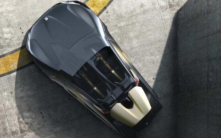 Peugeot EX1 felülről