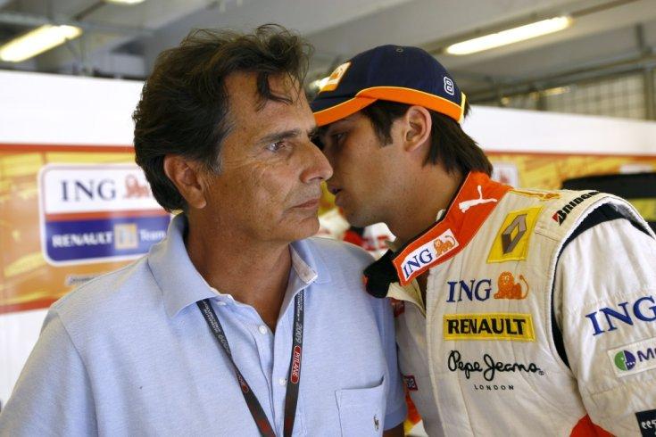 Nelson és Nelsinho Piquet a Renault garázsában