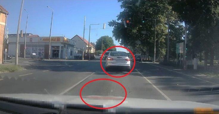 Piroson áthajtó sofőr a rendőrök szemszögéből