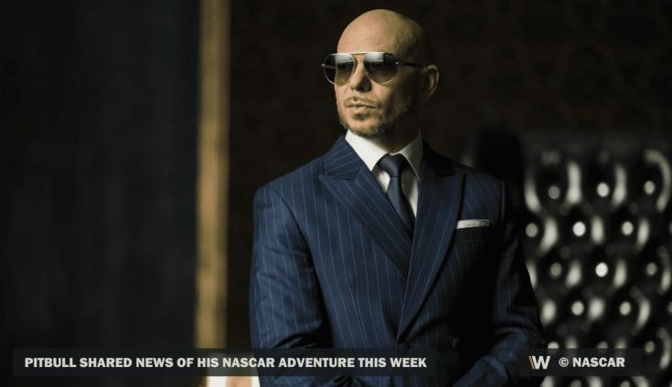 Pitbull egy öltönyben és napszemüvegben