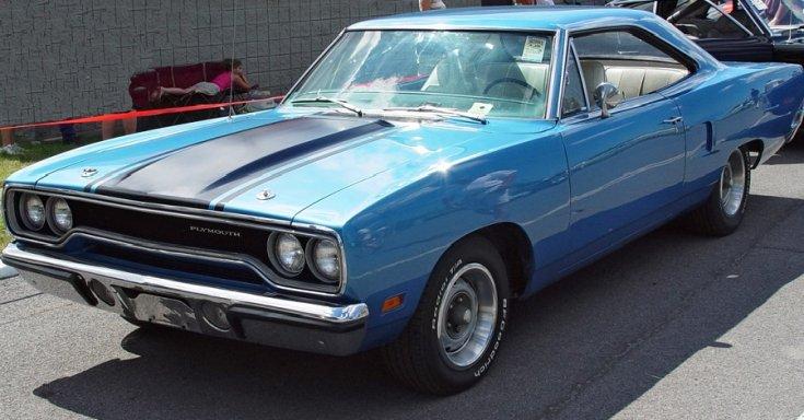 1970 Plymouth Road Runner, kék, oldalnézet, jobbról