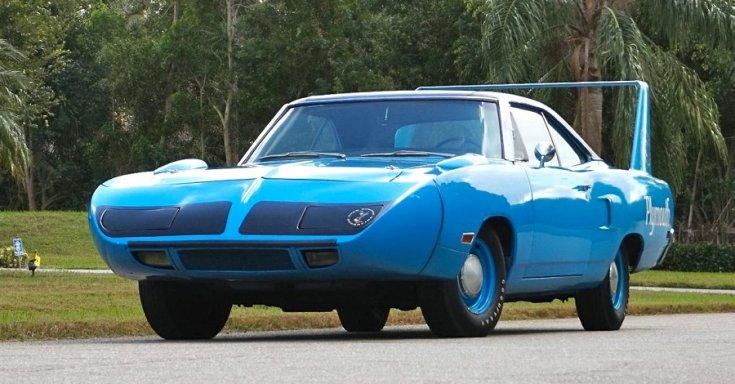 1970 Plymouth Superbird, kék, elölnézet