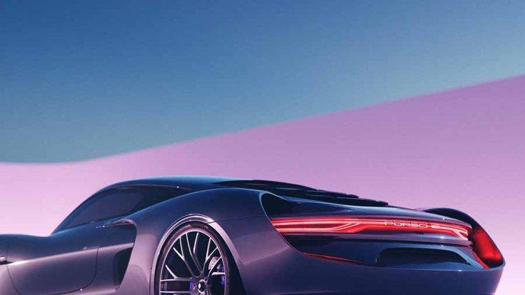 Porsche 988 Vision koncepció hátulról