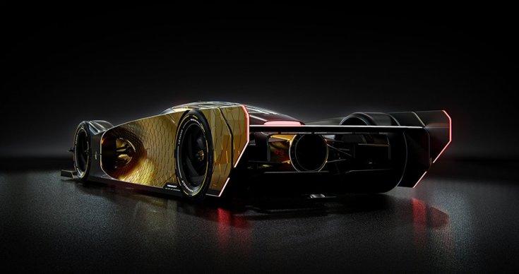 A Renault Le Mans-i koncepciója hátulról