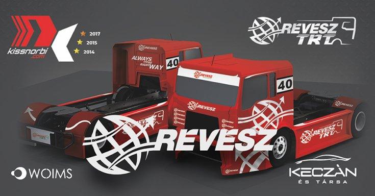 A RÉVÉSZ TRT kamionjának dizájnja