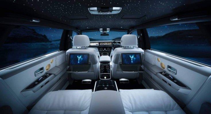 Rolls-Royce Phantom csillagos ég tetőkárpit