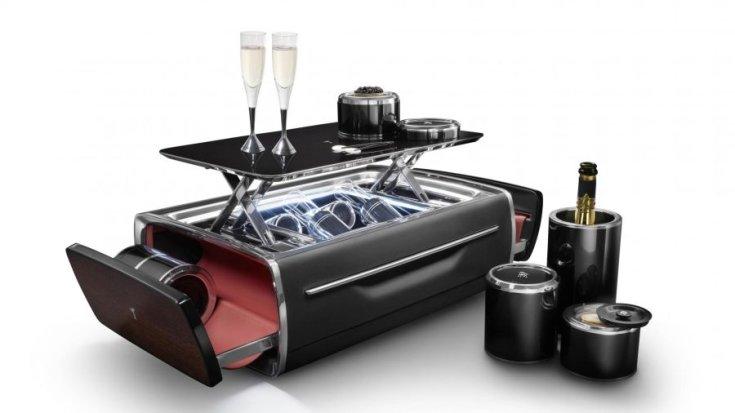 Rolls-Royce pezsgő készlet