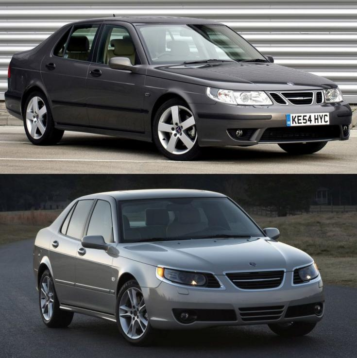 régi és faceliftes Saab 9-5