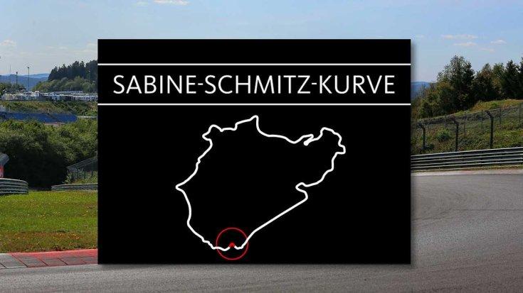 a Sabine-Schmitz-Kurve helye a Nordschleife térképén