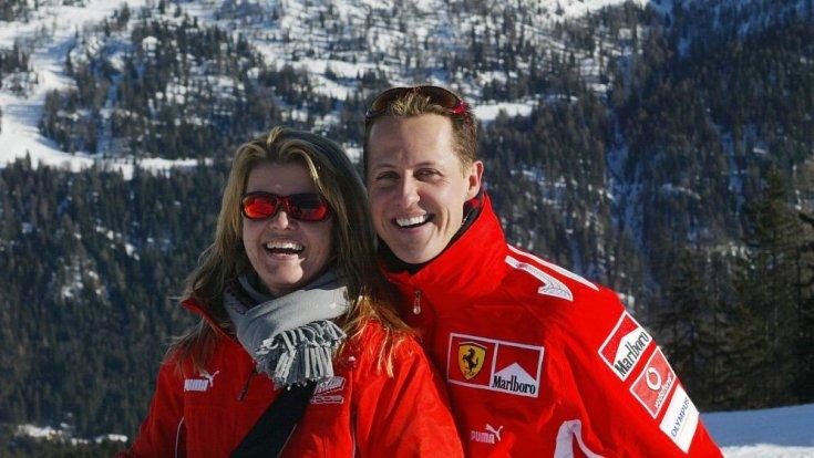 Schumacher és felesége, Corinna