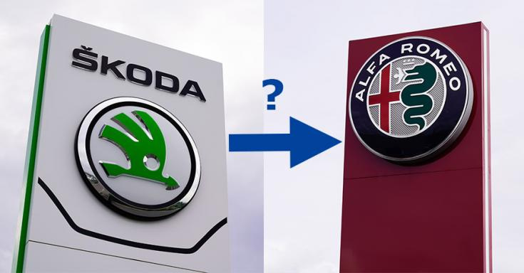 Skoda és Alfa Romeo logók