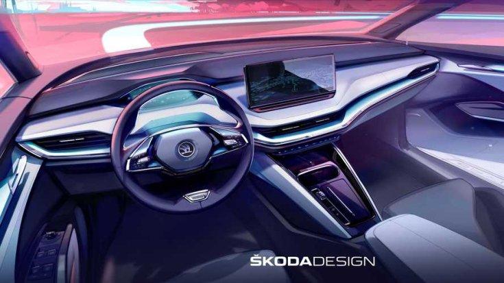 Škoda Enyaq elektromos crossover beltér