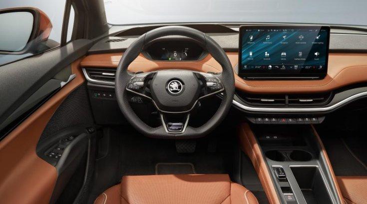 Škoda Enyaq iV belső kialakítás