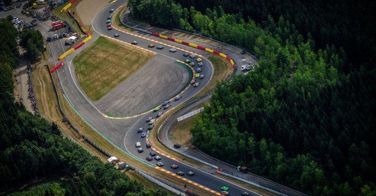 A Circuit de Spa-Francorchamps versenypálya felülnézetből