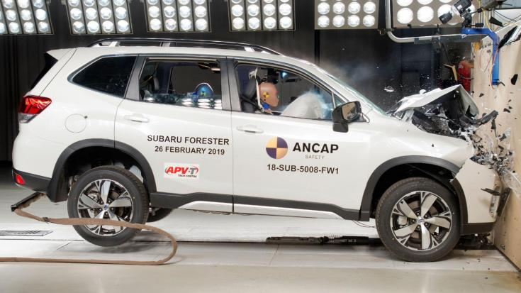 Subaru Forester Euro NCAP törésteszt