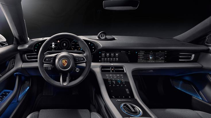 A Porsche Taycan beltere
