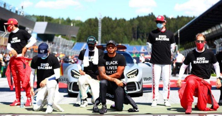 rasszizmus elleni kampányban résztvevő F1-es pilóták