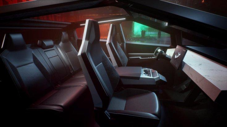 Tesla Cybertruck utastere – látványterv
