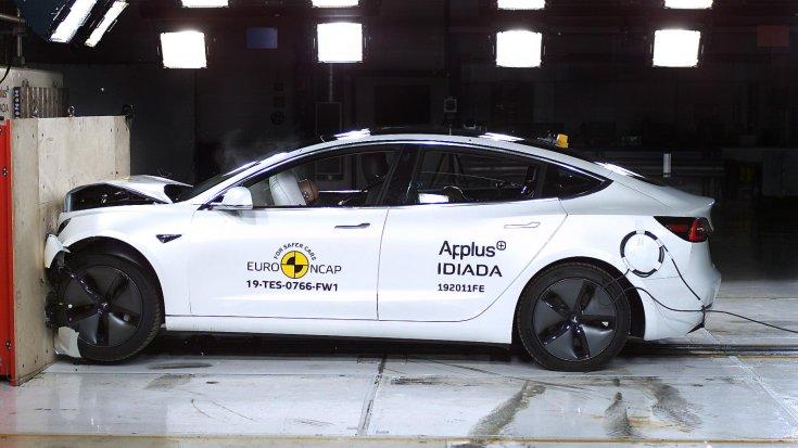Tesla Model 3 Euro NCAP törésteszt