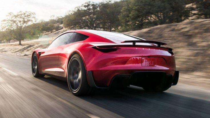 Tesla Roadster 2020 hátulról