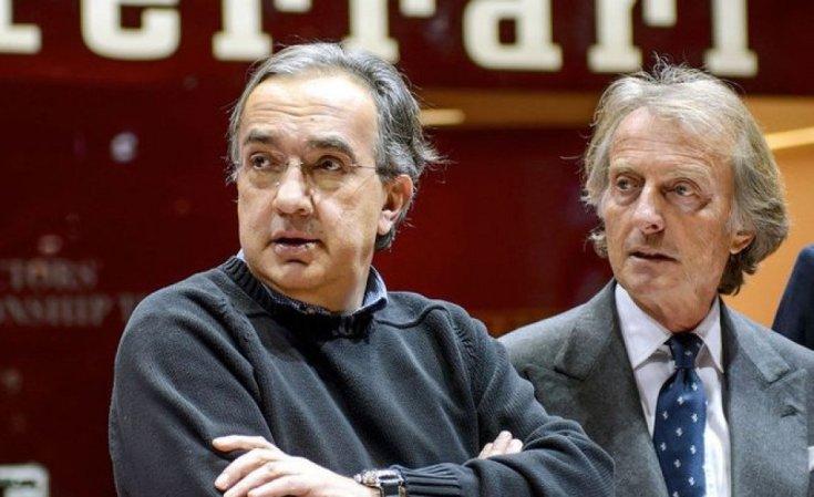 Sergio Marchionne és Luca Di Montezemolo egy rendezvényen