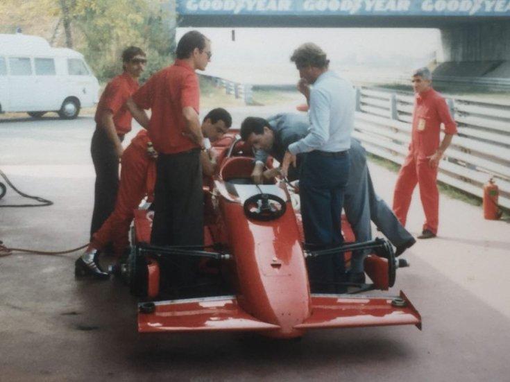 March 85C IndyCar a fioranói tesztpályán